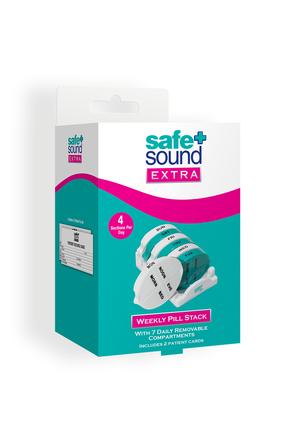 Safe and Sound Health 7-Day Detachable Pill Tower