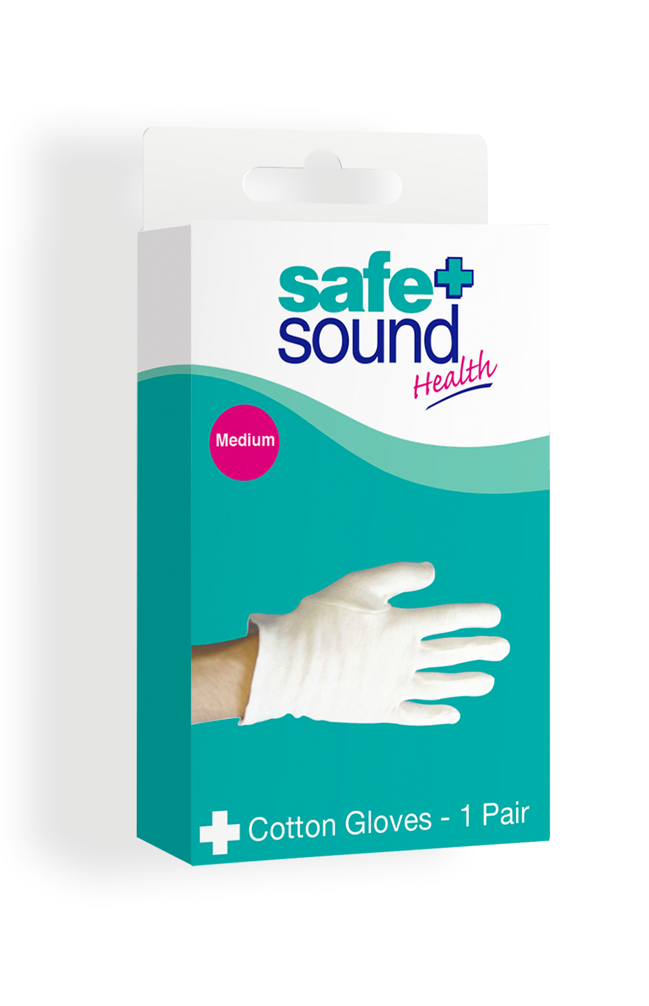 Safe and Sound Health Medium Size Cotton Gloves