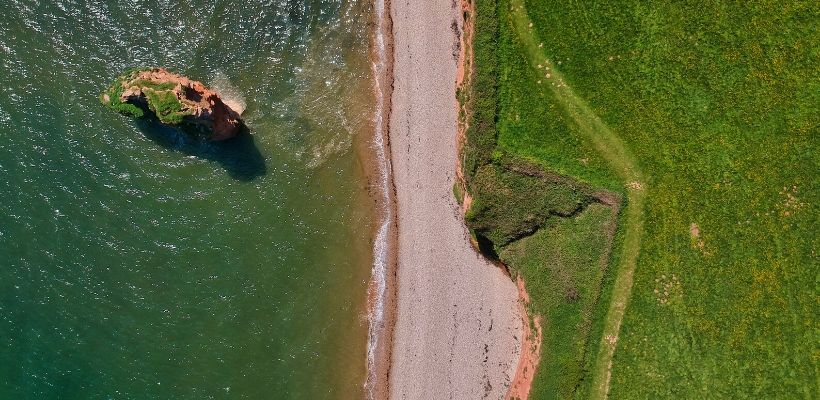 Ariel view of some of the best walking spots on the south coast