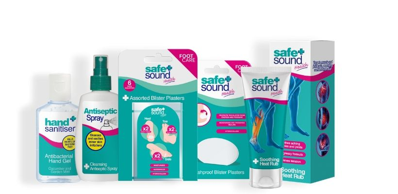 Safe and Sound Health's range of footcare products helkp you treat and prevent a range of aliments caused by walking, such as blisters, cuts, grazes and cramp