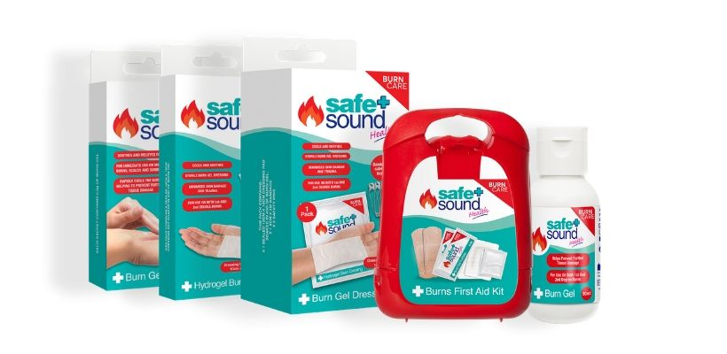 Safe and Sound Health's comprehensive range of burns first aid products