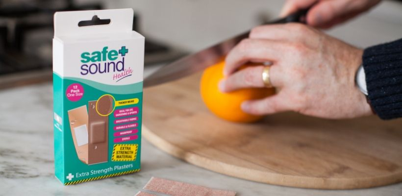 Safe and Sound Health's Extra Strength Plasters are ideal for protecting cuts and grazes to finger