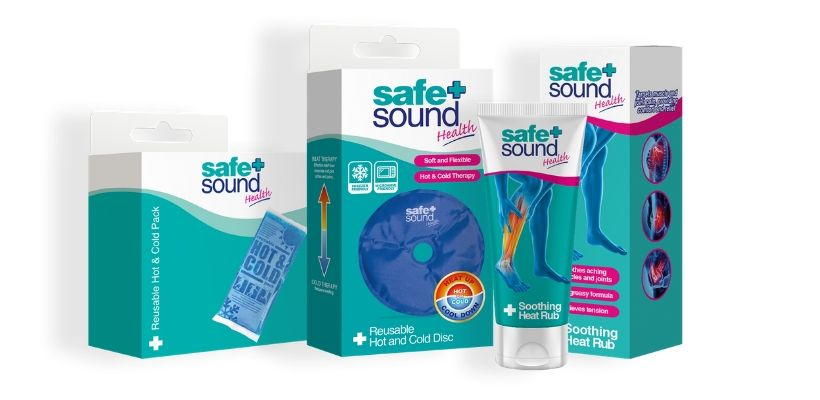 Safe and Sound Health has a range of hot and cold compresses and therapies to help treat joint and muscular pain