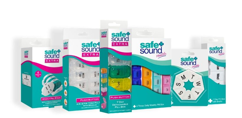 Safe and Sound Health's range of pillboxes help you organise and plan your daily medication or vitamins