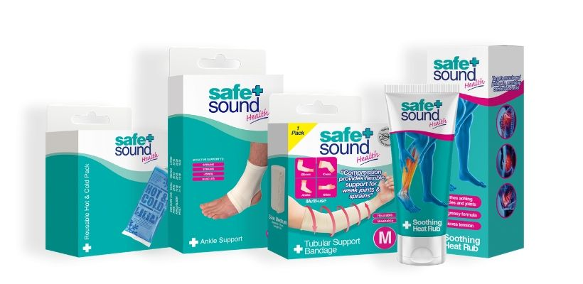 Safe and Sound Health's extensive range of products can help manage pain from muscular or joint injuries