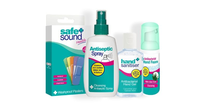 Safe and Sound Health's 3 simple steps to faster healing. Wash, clean, protect!